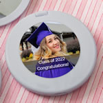 personalized silver  compact mirror from fashioncraft - birthday design