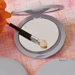 <em>Perfectly Plain Collection</em> Silver Compact  Mirrors