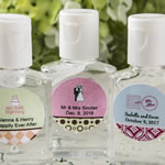 Personalized expressions hand sanitizer favors 30 ml size
