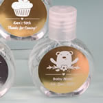 Personalized metallics hand sanitizer favor 62% alcohol , 60 ml size
