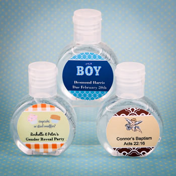 Personalized expressions hand sanitizer favor 62% alcohol, 60ml size