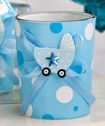 Cute candle holder favors - Boy