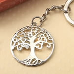 Silver tree of life and family key chain