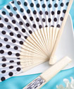 Pretty Polka Dot Silk  Fan Favors
