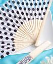 Pretty Polka Dot Silk  Fan Favors