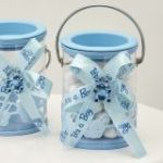 Baby boy blue decorated Paint can