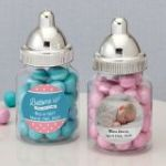 Personalized Expressions Silver top baby bottle
