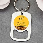 personalized expressions stainless steel small key chain bottle opener