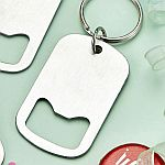 perfectly plain stainless steel small key chain bottle opener