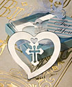 Cross Design Bookmark Favors