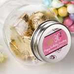 Personalized candy glass jar - birthday design