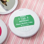 personalized compact mirror from Fashioncraft®- birthday design