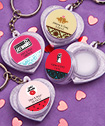 <em>Personalized  Expressions Collection</em> Heart Design Lip Balm Key Chains