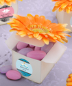Classy Orange Gerbera-Daisy-Adorned Box  Favors