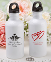 Silkscreened Metal Water Bottles personalized directly on the bottle