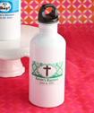 <em>Clearly Custom Collection</em> White Metal  Water Bottles