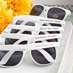 Personalized Sunglasses: Text Silk-Screened Directly onto the Sunglasses