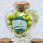 Personalized Expressions Collection heart shaped glass jars