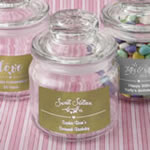 Personalized Metallics collection glass jar with sealed cover