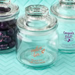 Screen Printed glass jar with sealed cover
