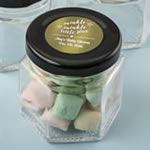 Personalized Metallics Collection small hex jar