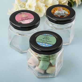 Personalized expressions small hex jar