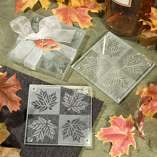 Fall Glass Photo Coaster