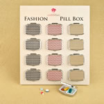 Modern graphic design pillbox from gifts by fashioncraft