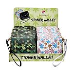 leaf design wallet with hand strap - 2 assorted colors