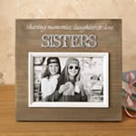Wood frame with raised metal words - 6 x 4 - SISTERS