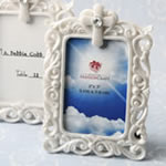 Baroque style white frame with Cross detail