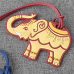 elephant luggage tags - 2 assorted
