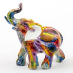 Tie-Dye elephant - small size from gifts by fashioncraft