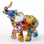 Tie-Dye elephant - medium size from gifts by fashioncraft
