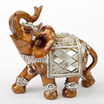 Mahogany with Silver accents elephant - medium size