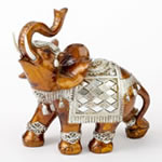 Mahogany with Silver accents elephant - large size