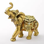 Gold with Jewels elephant - medium size from gifts by fashioncraft
