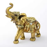 Gold with Jewels elephant - large size from gifts by fashioncraft