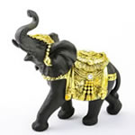 Ebony with gold accents elephant - large size