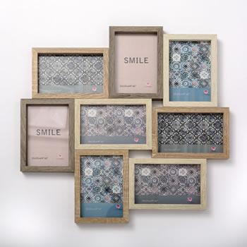 Wood Puzzle collage frame - 8 Openings from gifts by fashioncraft