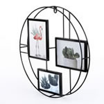 Round wire collage frame - 3 openings