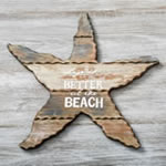 Wooden Starfish with words 'Life is better at the Beach'