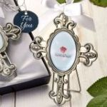 Pewter metal Cross frame ornament