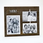 triple wood Mom frame - Holds one 5x7 and two 4x6 photos