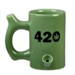 420 Mug - Green Mug with Black 420 design