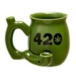 420 Mug - Green Mug with Black 420