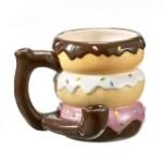 Donut mug - pipe - novelty mug