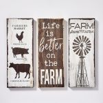 Set of 3 canvas decor - farm designs
