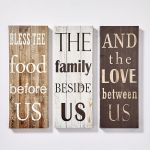 Set of 3 canvas decor - love designs