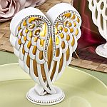 Angel wings design statue with light up LED